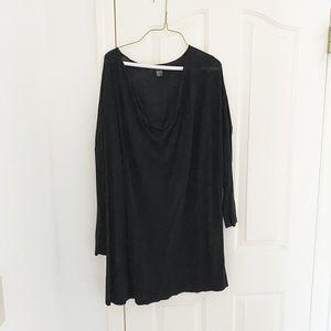 H&M Black Cowl Neck Tunic Sweater